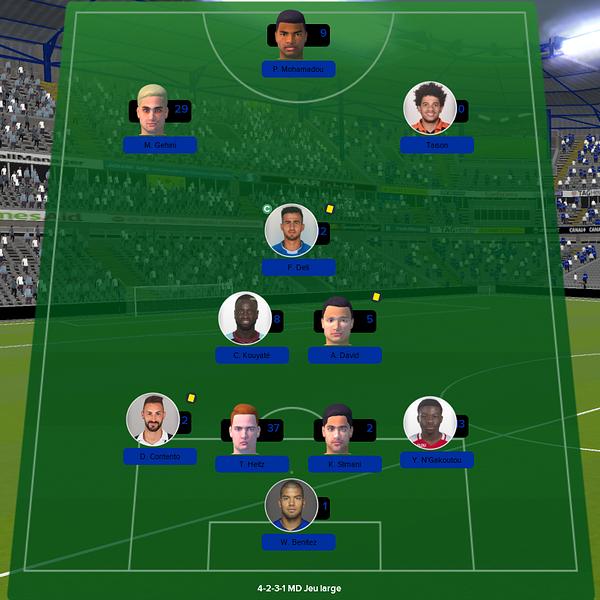 équipe ligue 1 match 17