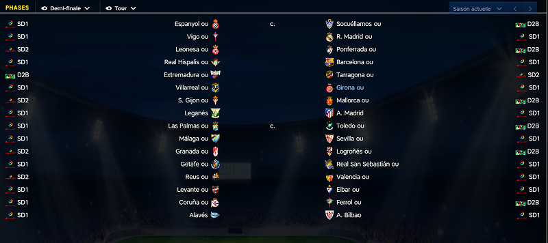 Tirage Coupe Espagne