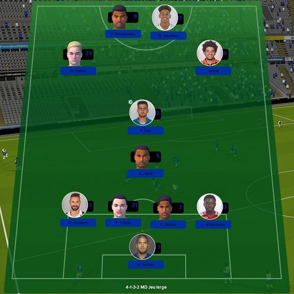équipe ligue 1 match 13