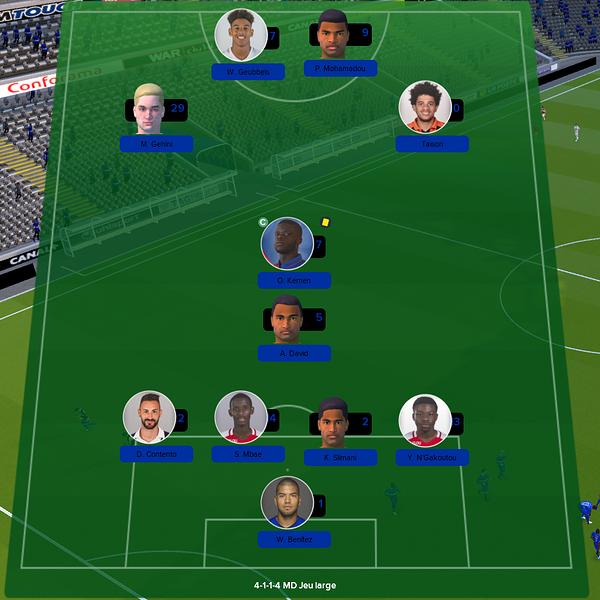 équipe ligue 1 match 8
