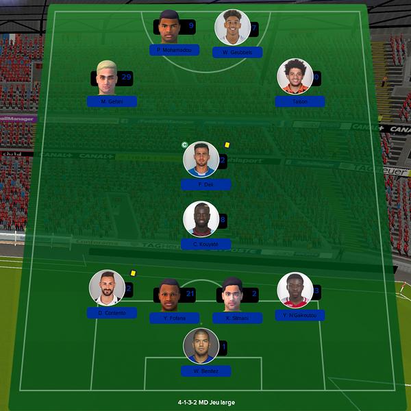 équipe ligue 1 match 18