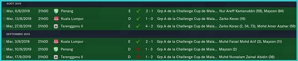 Challenge Cup matchs