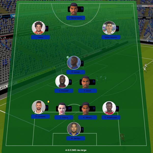 équipe ligue 1 match 6