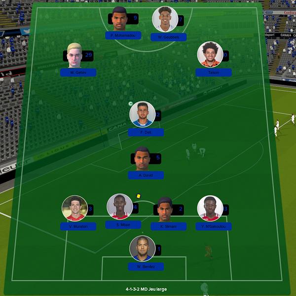équipe ligue 1 match 11