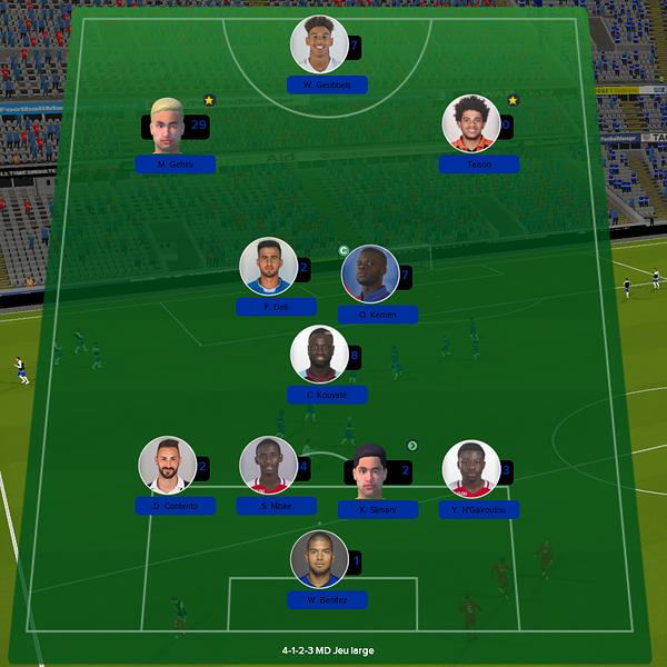 équipe ligue 1 match 2