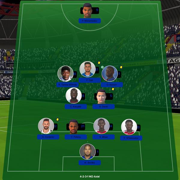 équipe ligue 1 match 16