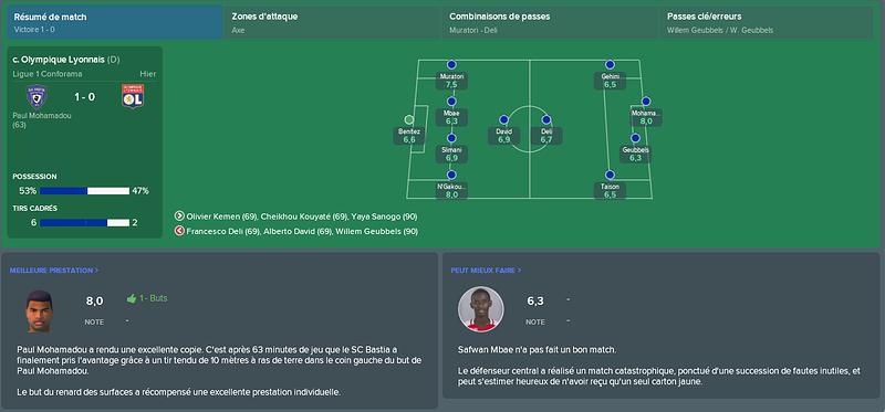 resumé match n°11