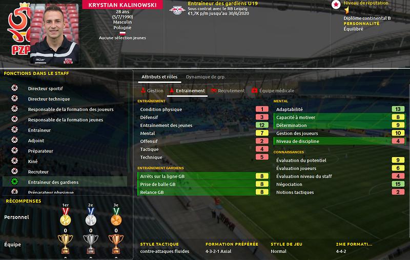 Entraineur gardien U19 2-3