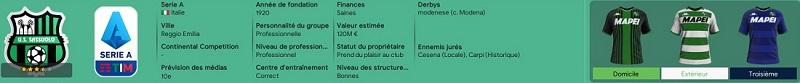 Descriptif rapide du club