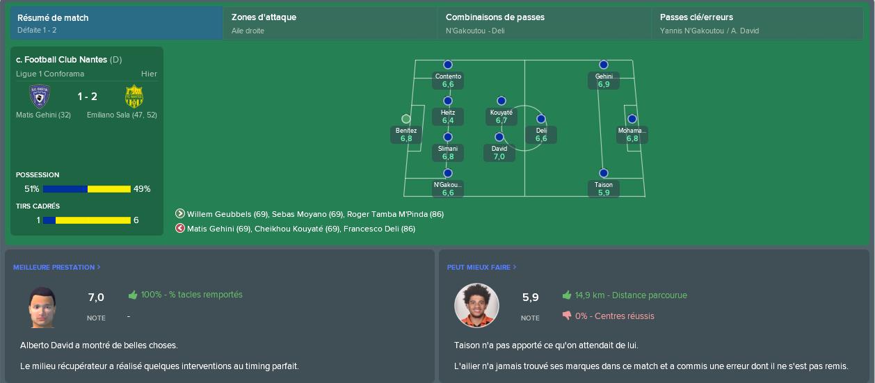 resumé match n°16