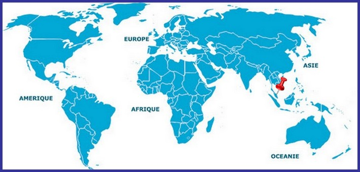 carte du monde trajet