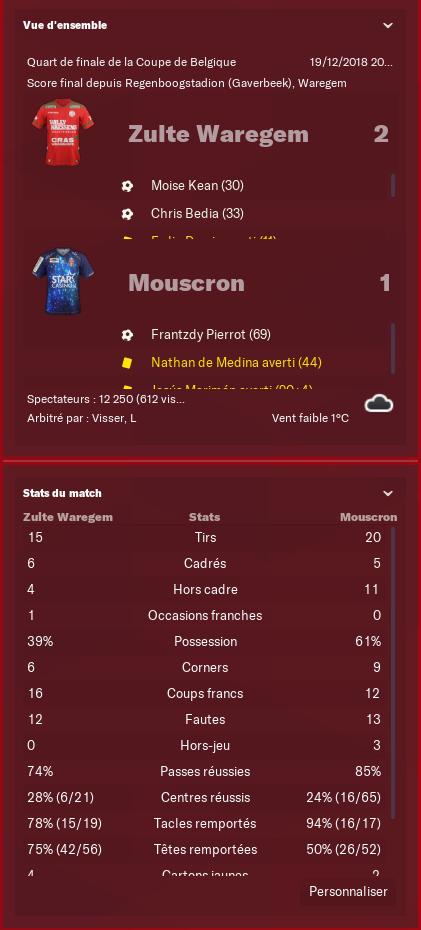 Waregem-Mouscron